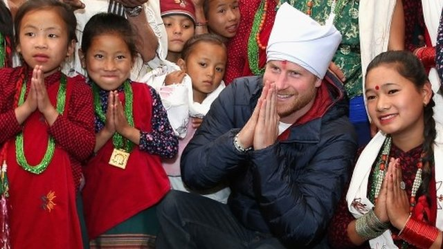 Prince Harry visits Gurkha village