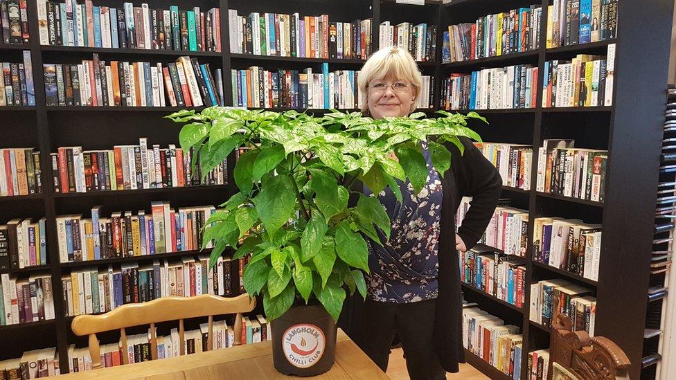Laura Ellis is growing a Carolina Reaper in her vegan cafe