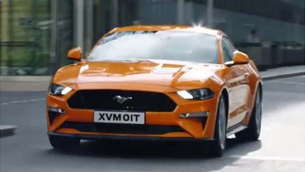 Ford Mustang in banned ad