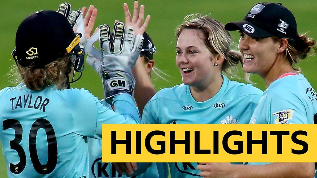 Women's Super League: Surrey Stars reach finals day after tense finish