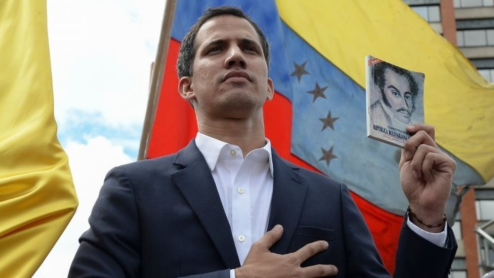 Juan Guaidó: US backs opposition as Venezuela president