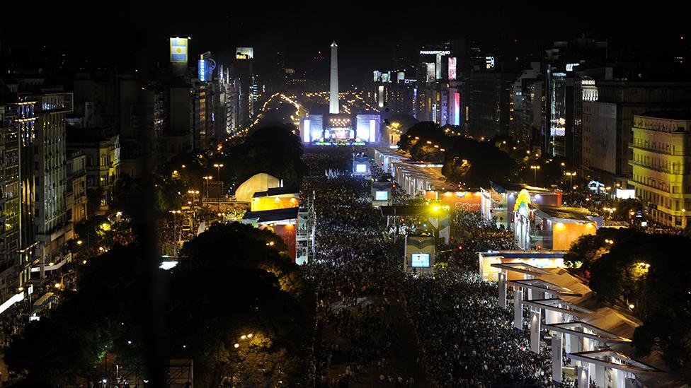 Los festejos por el bicentenario de la Revolución de Mayo en Buenos Aires, en mayo de 2010