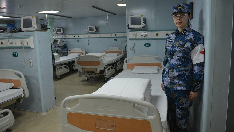 """El """"Arca de la Paz"""" dispone de unas 200 camas clínicas."""