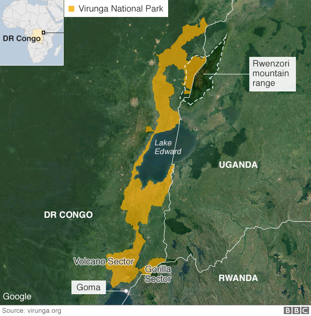 carte des Virunga