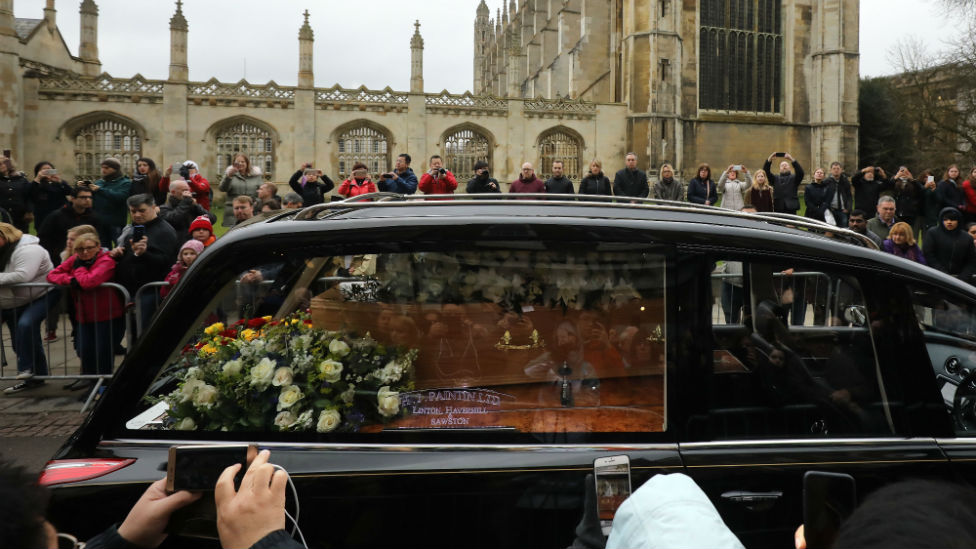 Stephen Hawking's coffin