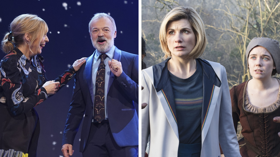 Stills from Children in Need and Dr Who