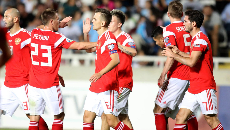 Россия обыграла Кипр в футбол и едет на Евро-2020