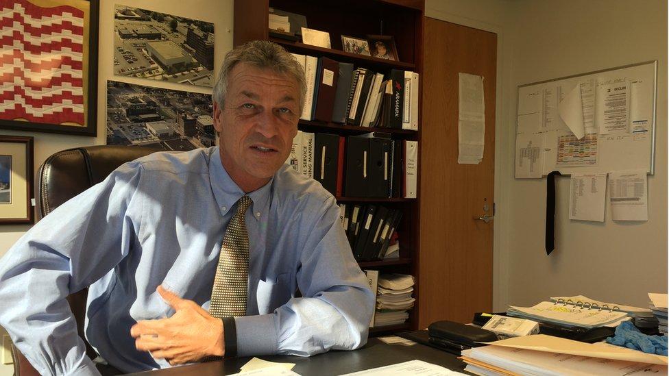 Multi-County Correctional Center administrator Dale Osborne