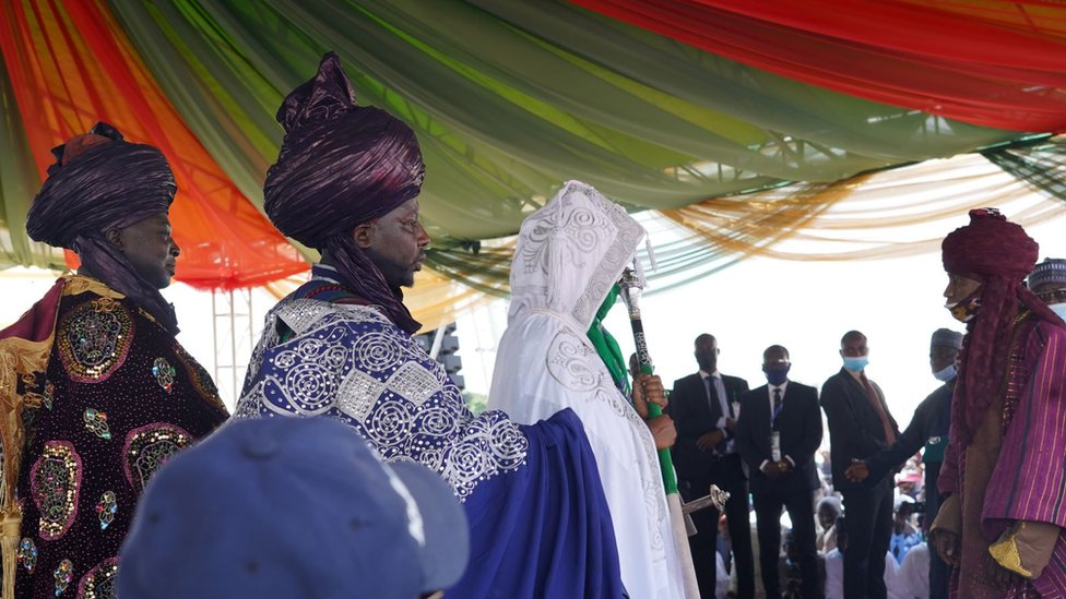 The Emir of Bichi holding the staff of office
