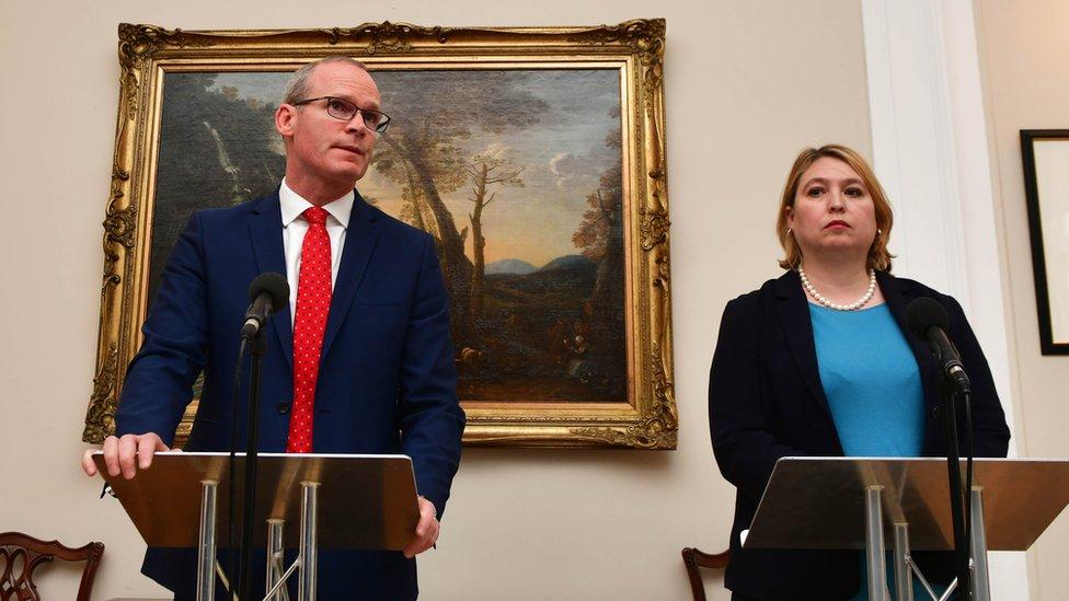 Simon Coveney and Karen Bradley