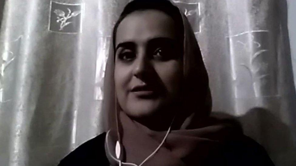 Beheshta Arghand talking to the BBC
