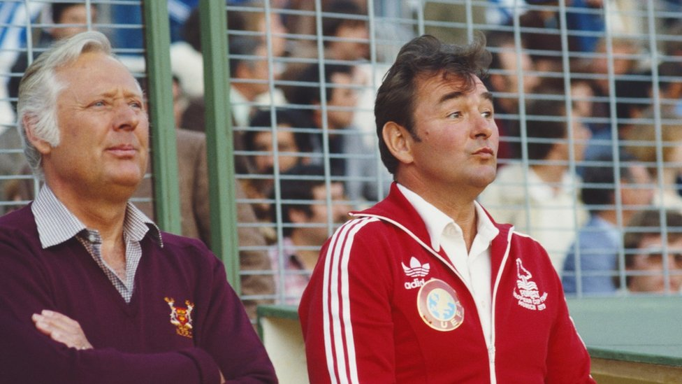 Peter Taylor and Brian Clough, 1980 European Cup Final v Hamburg in Madrid
