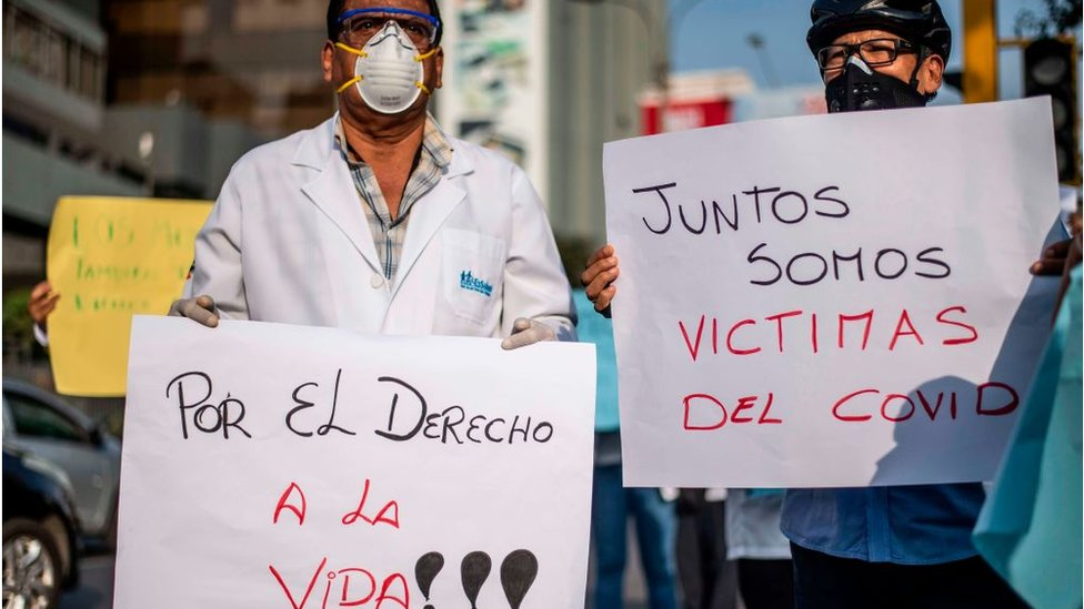 Protesta en Perú