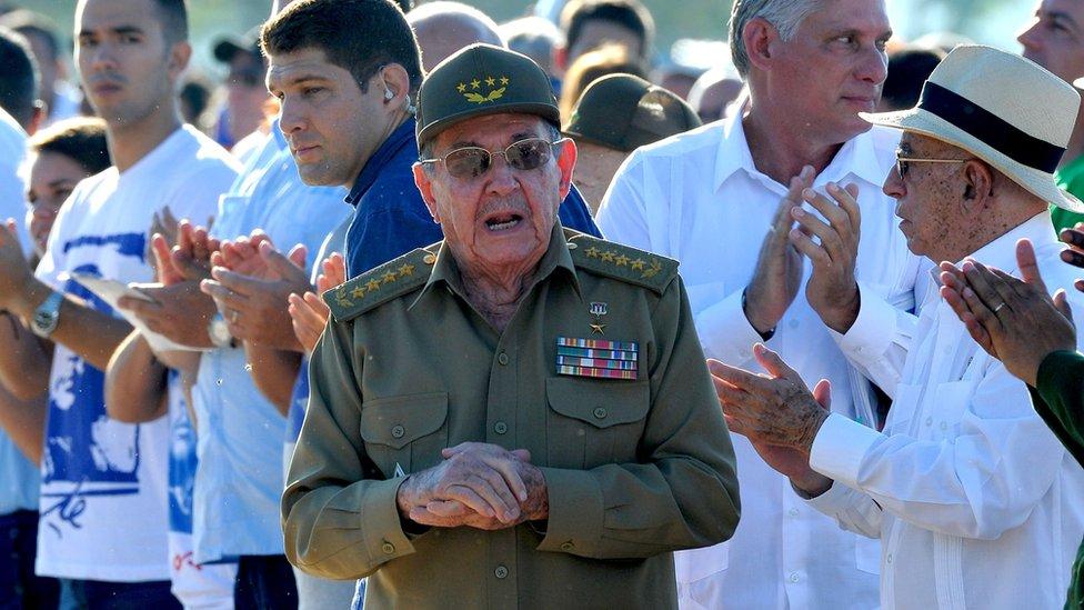 Cuban President Raúl Castro at the ceremony