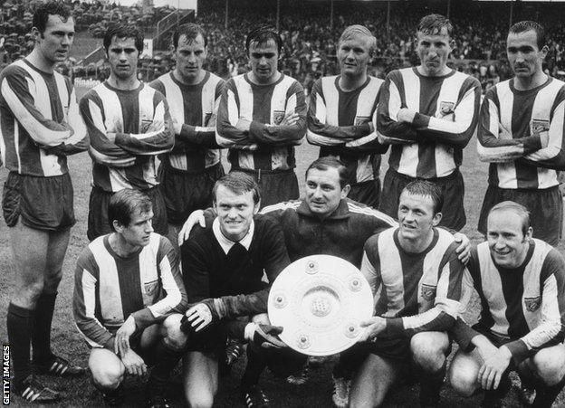Branko Zebec and the 1968-69 Bayern Munich team
