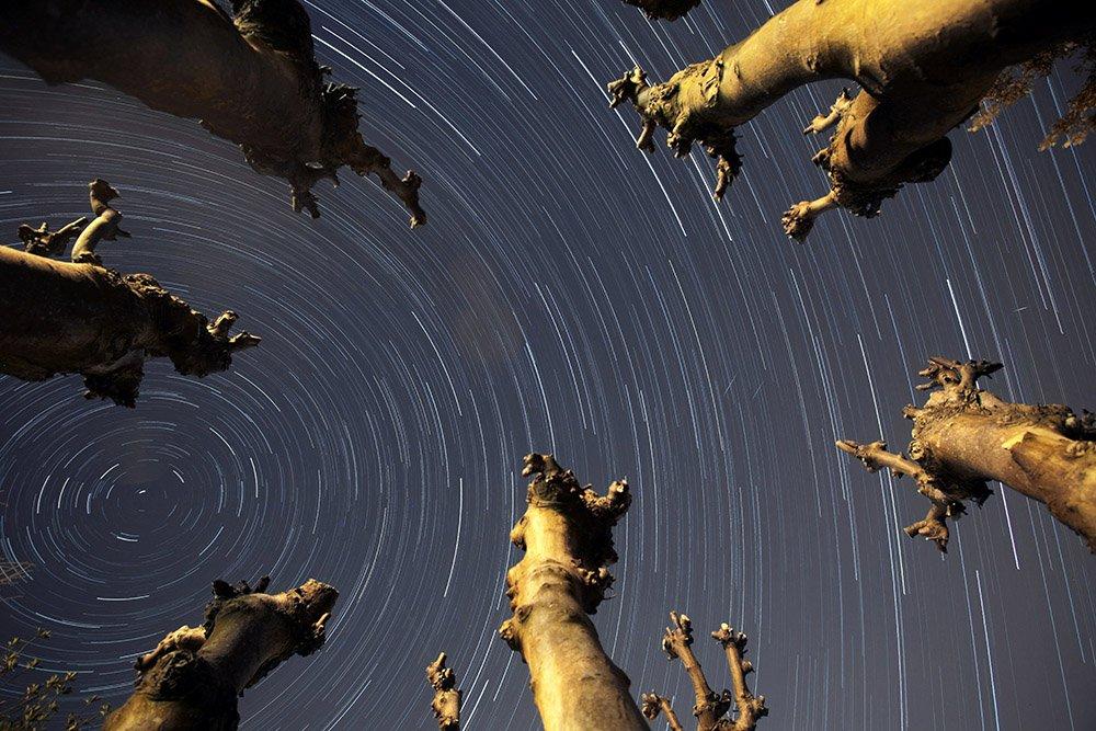 zvezdano nebo i tri mala meteora