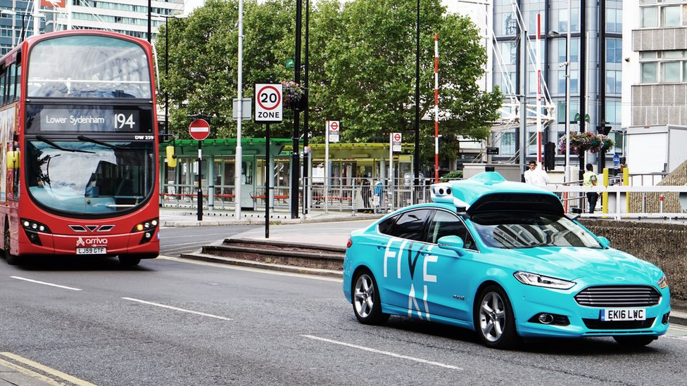 A Five AI car being tested in south London