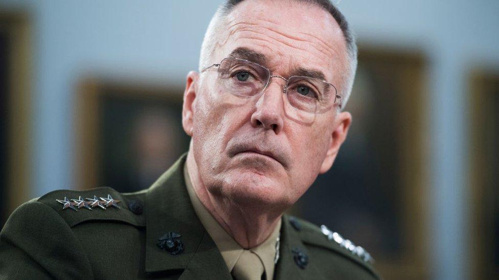 El general Dunford supuestamente le recomendó a Trump ser cauto en relación con los ataques contra Irán.