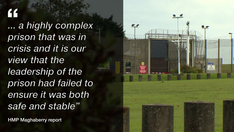 Inspectors said the prison leadership failed to ensure it was both safe and stable