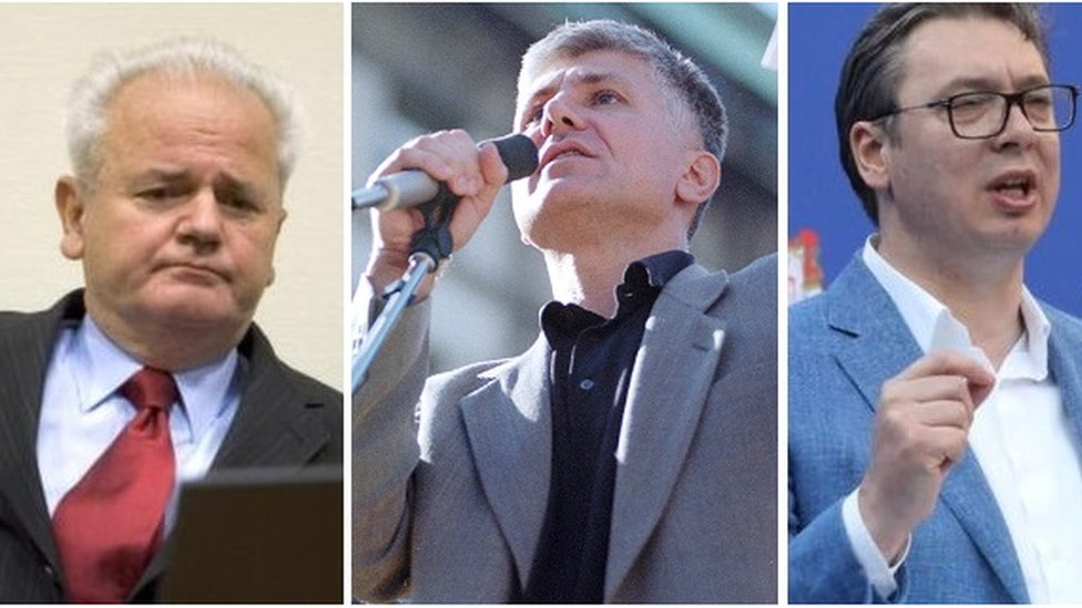 Slobodan Milošević, Zoran Đinđić i Aleksandar Vučić