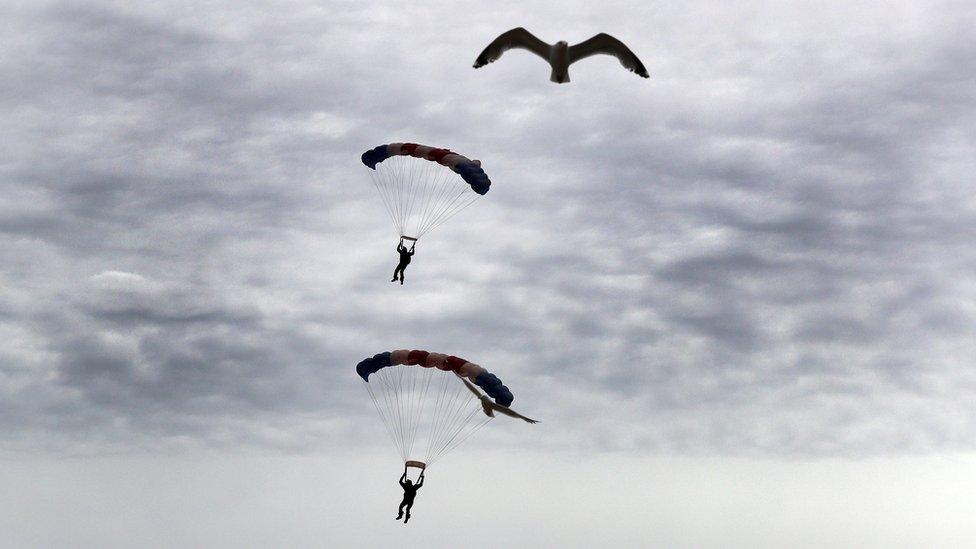 RAF Falcons parachute team