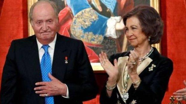 خوان كارلوس مع الملكة صوفيا