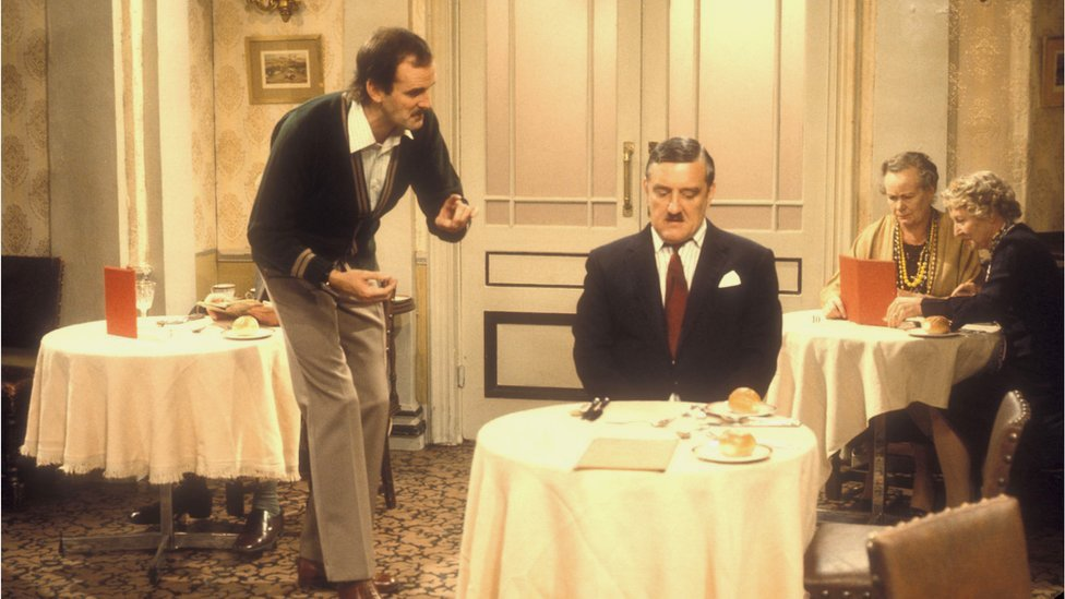 Still from Fawlty Towers episode The Hotel Inspector