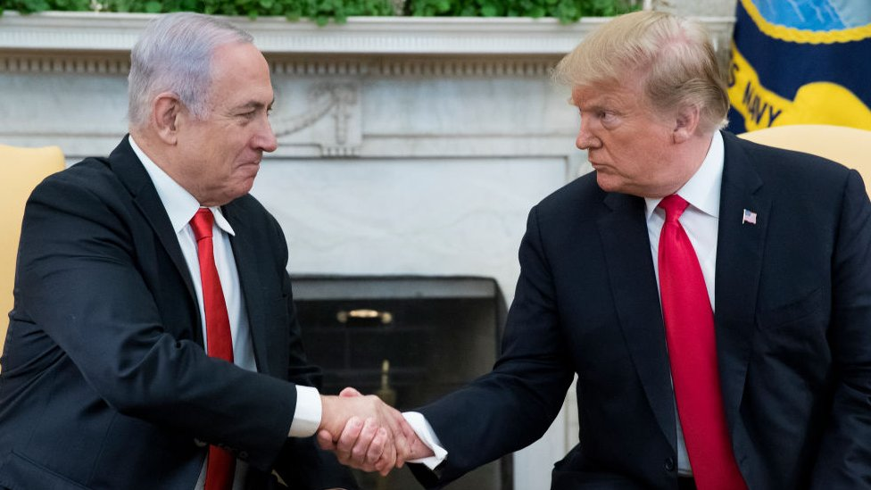 Trump y Netanhayu.