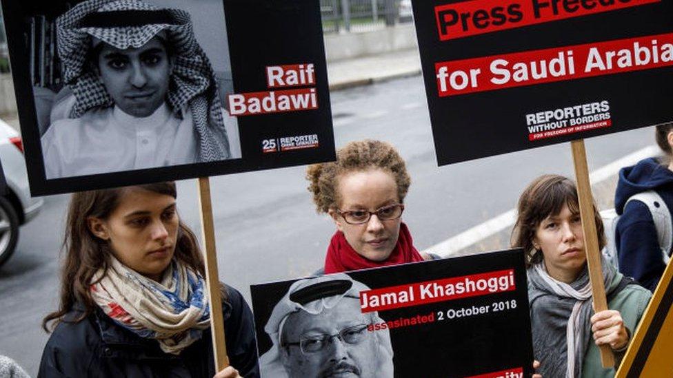 مظاهرة أمام السفارة السعودية في برلين عام 2019