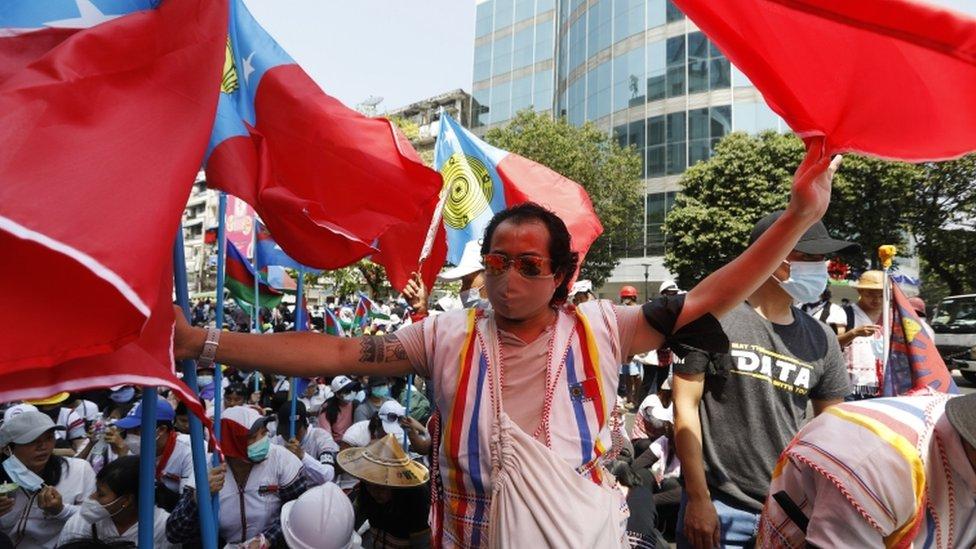 Demonstrasi multi etnik, Myanmar, kudeta