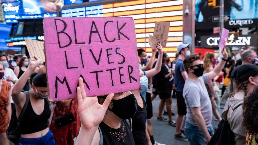 Protesta en Nueva York en julio de 2020.