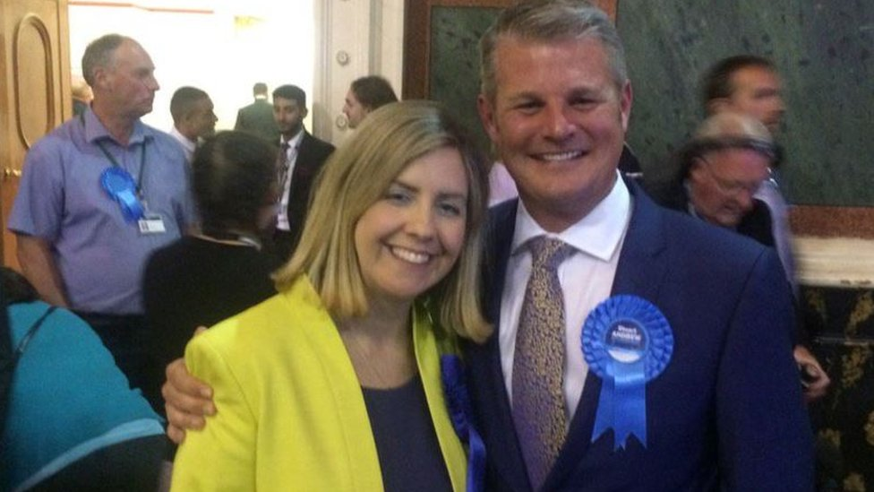 Conservative MPs Andrea Jenkyns and Stuart Andrew