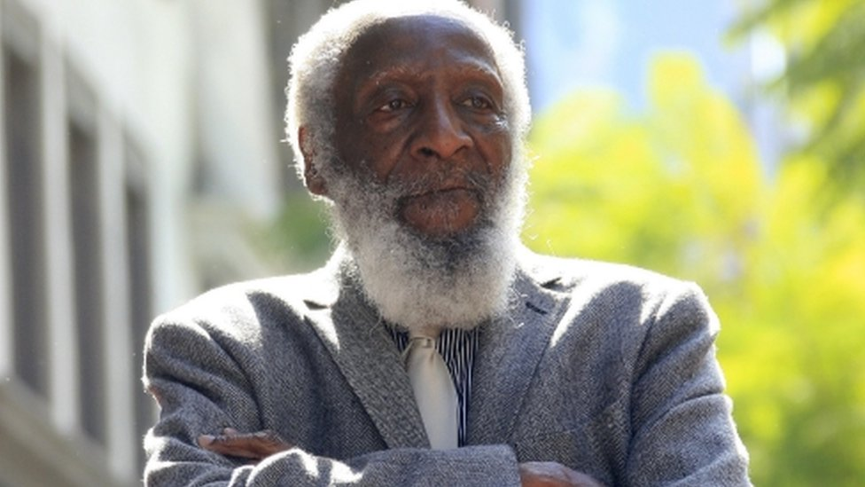 US comedian and civil rights activist Dick Gregory