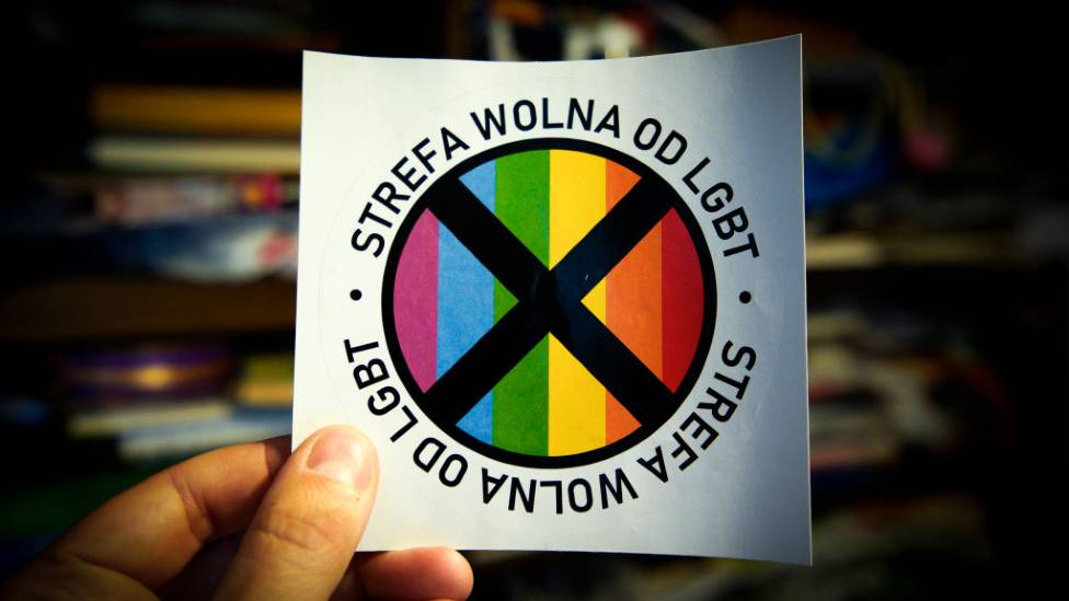 Anti-LGBT sticker produced by Gazeta Polska