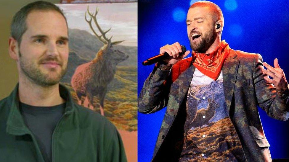 BBC News - 'I had no idea my print was for Justin Timberlake'