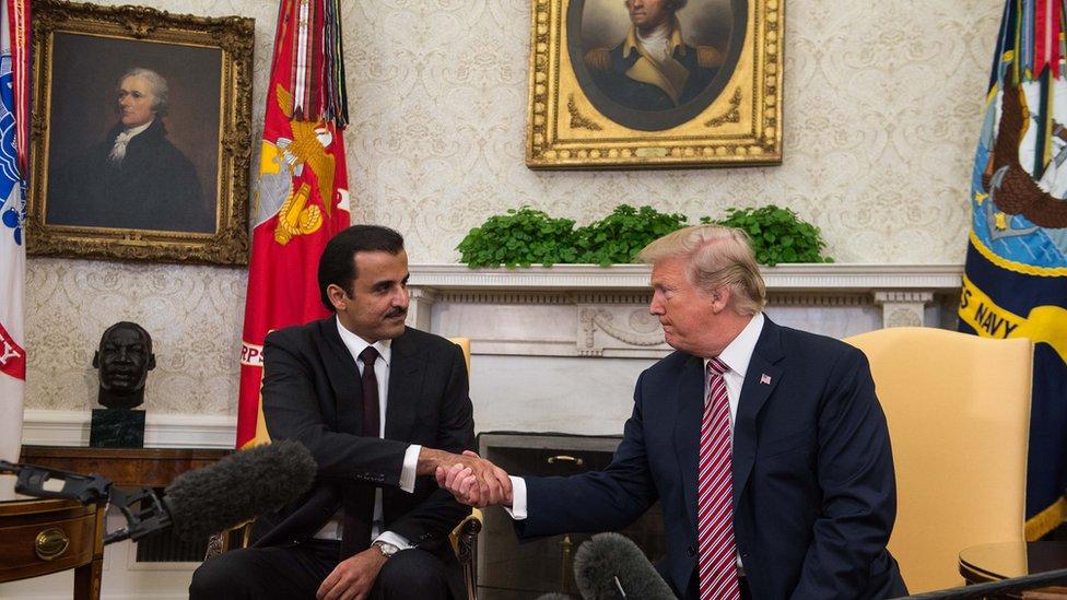 لقاء في البيت الأبيض مع أمير قطر