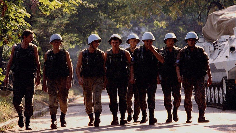 Ukrainskie mirotvorcы v Saraevo, 1992 god