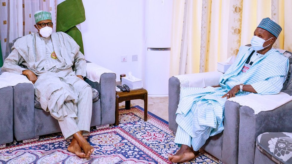 President Muhammadu Buhari and Governor Aminu Bello Masari