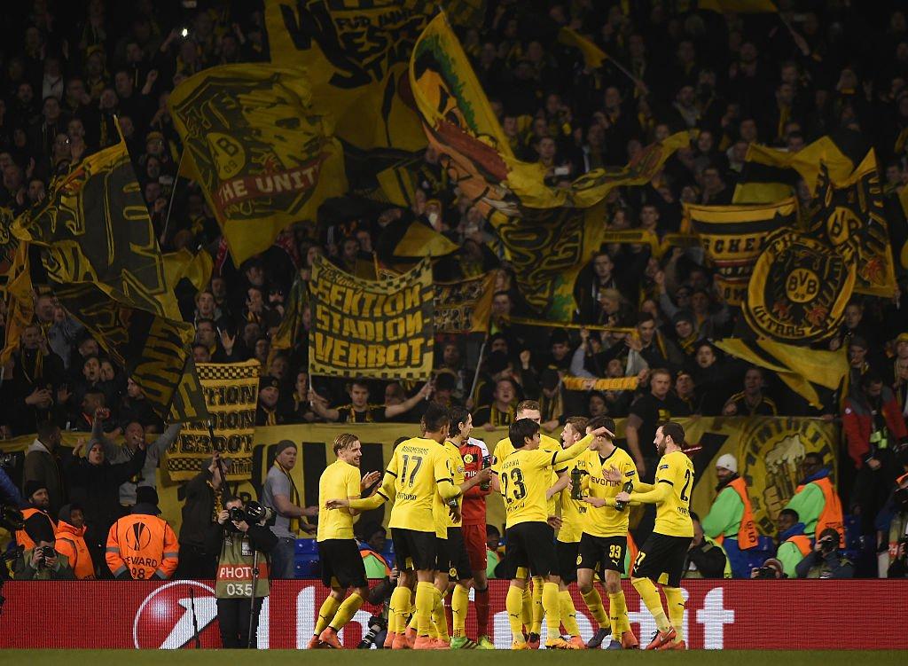 Jugadores del Dortmund.