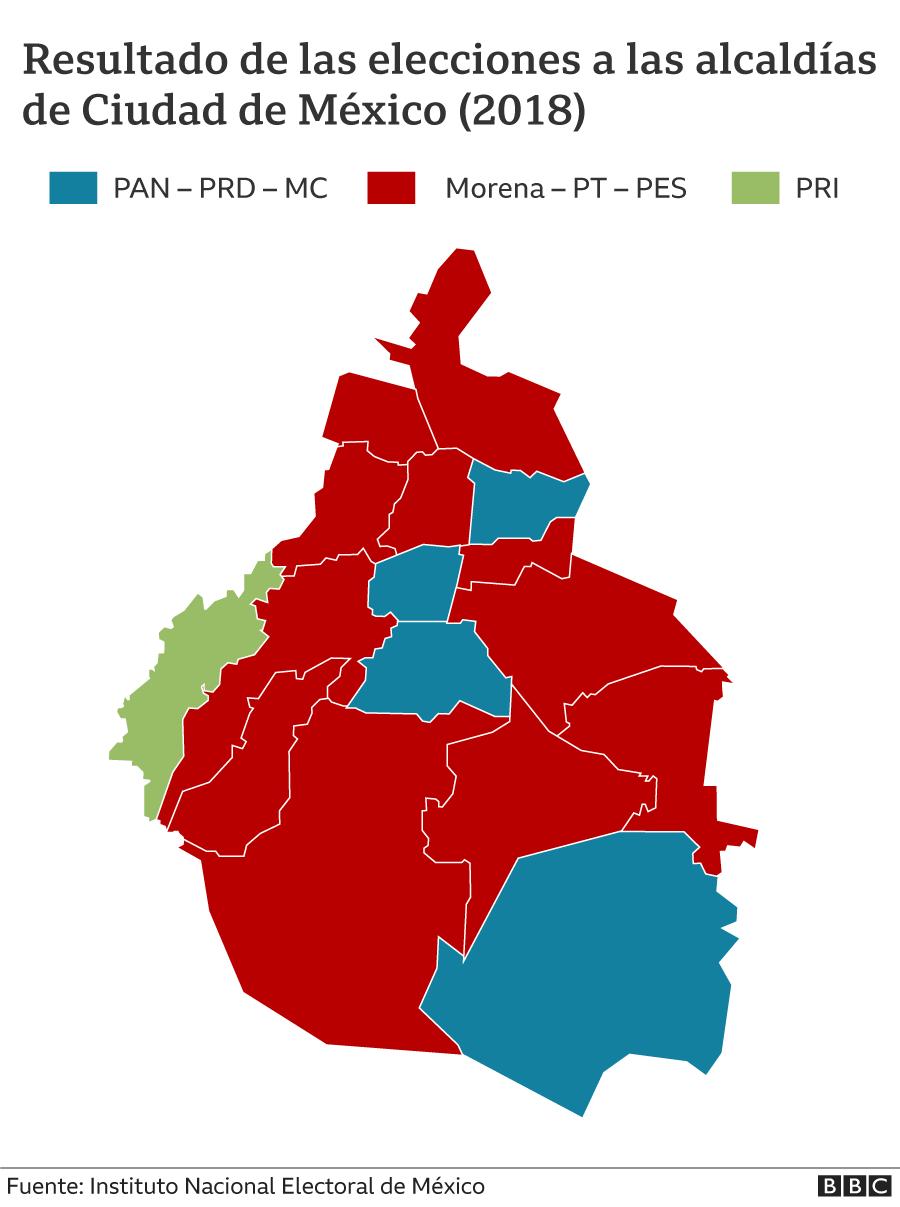 Mapa alcaldias CDMX 2018