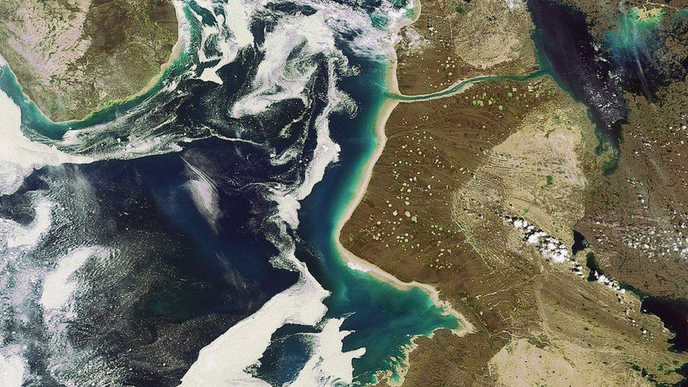 Mapa satelital de la zona