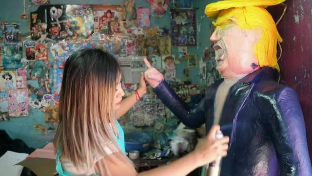 Making Donald Trump pinata