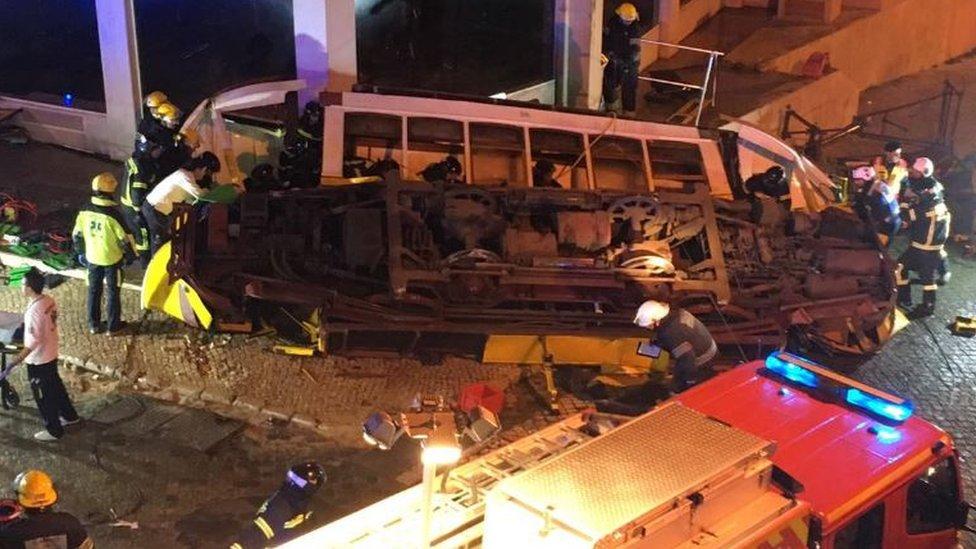 British children hurt in Lisbon tram crash