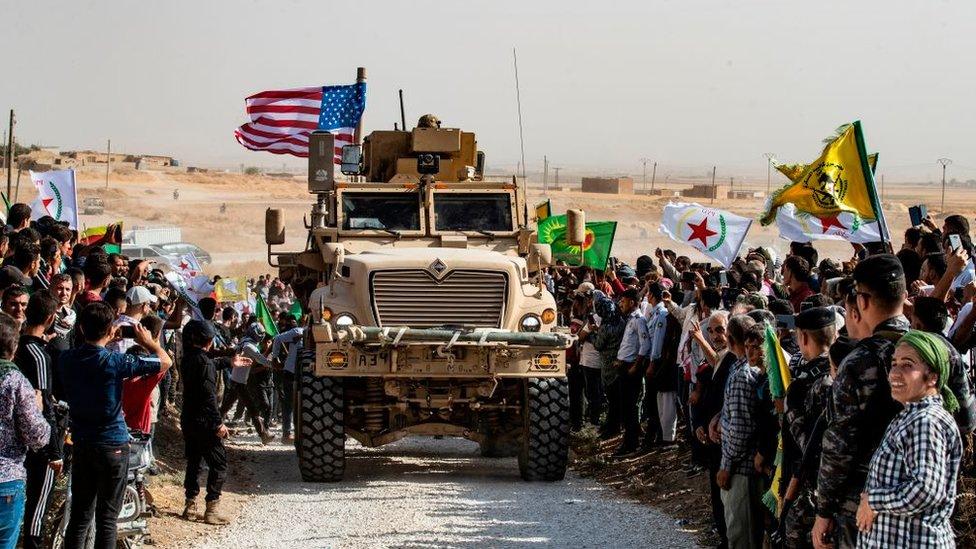 suriye'de bir abd askeri aracı