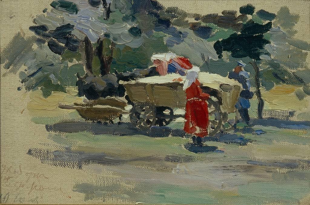 """""""Dujobores en Borjomi"""", 1895. Artista: Viktor Elpidiforovich Borisov-Musatov, (1870-1905)"""