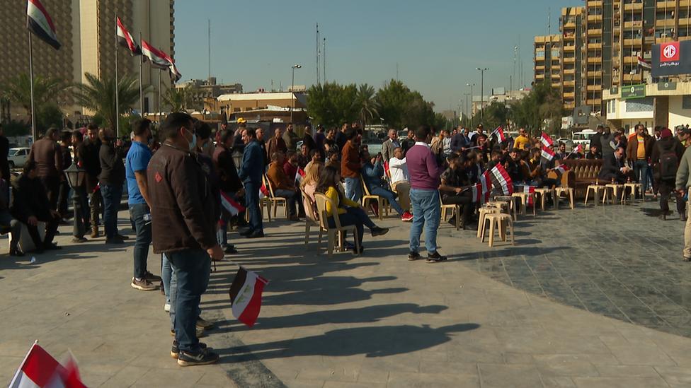 وقفة احتجاجية في بغداد