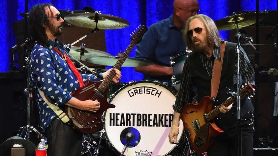 Tom Petty (right) and The Heartbreakers perform in Nashville, Tennessee. Photo: April 2017