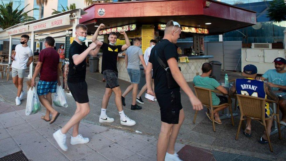 British tourists in Mallorca last summer