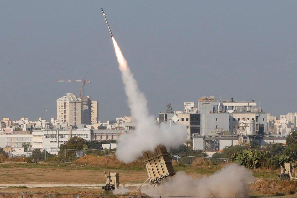 Una batería antiaérea en Israel