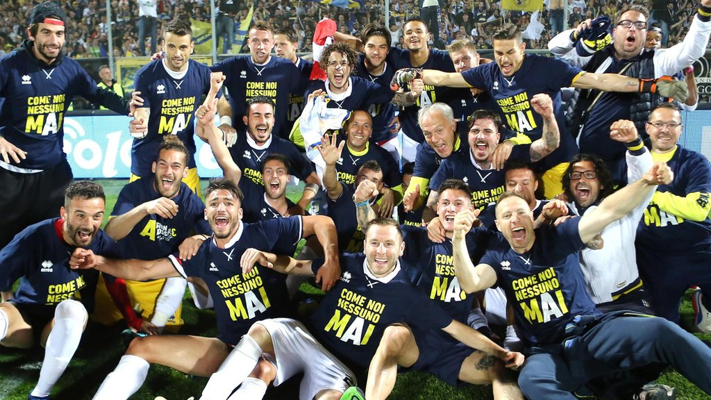 Parma secure third successive promotion to Italy's top flight after bankruptcy
